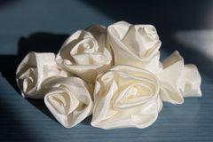 Wedding accessories addition veil - roses Royalty Free Stock Photography
