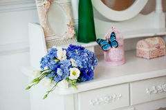 Wedding accessories, bouquet flowers Stock Photography