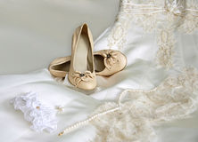 Wedding accessories of the bride Stock Image