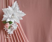 Wedding accessories:  buttonhole Royalty Free Stock Photography