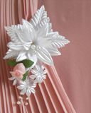 Wedding accessories:  buttonhole Stock Images