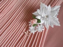 Wedding accessories: buttonhole royalty free stock photos