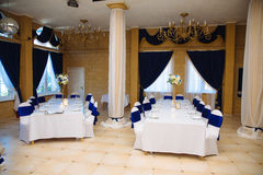 Wedding accessories. The decoration of the Banquet Hall. Table newlyweds Stock Images