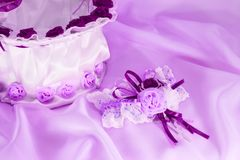 Wedding Accessories In Ultraviolet Stock Photo