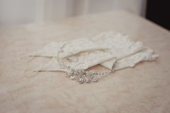 Wedding accessories and jewelry Stock Images