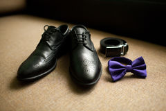 Wedding Accessories. Man's style, dressing Royalty Free Stock Photo