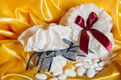 Wedding accessories on paper Royalty Free Stock Photo