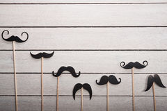 Wedding accessories set moustache Royalty Free Stock Images