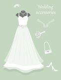 Wedding accessories. Royalty Free Stock Image
