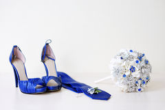 Wedding accessories on a white background Royalty Free Stock Photo
