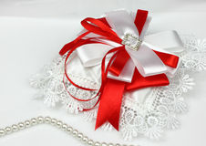 Wedding accessories on white Royalty Free Stock Images