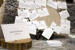 Wedding advise table Royalty Free Stock Photos