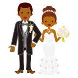 Wedding African couple stock illustration