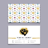 Wedding agency business card, event planner, celebrations coordinator, Trendy design Royalty Free Stock Photos