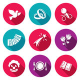 Wedding Agency Icons Set. Vector Illustration Royalty Free Stock Photos