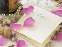 Wedding ainda a vida imagem de stock