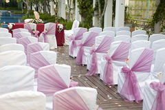 Wedding Aisle. With chairs and decoration royalty free stock photography