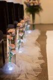 Wedding Aisle Flower Decoration Royalty Free Stock Photo