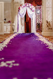 Wedding aisle. Is ready for ceremony royalty free stock photography