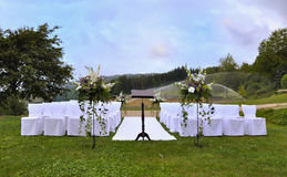 Wedding altar. Outside in nature Stock Image