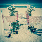 Wedding altar on the beach Royalty Free Stock Image