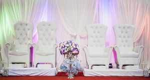 Wedding Altar. Decoration for the couple's seating Royalty Free Stock Photo