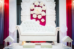 Wedding Altar. Decoration for the couple's seating Royalty Free Stock Photography