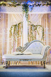 Wedding Altar. Decoration for the couple's seating Royalty Free Stock Image
