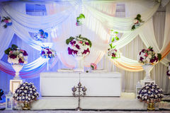 Wedding Altar. Decoration for the couple's seating Stock Photo