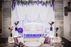 Wedding Altar. Decoration for the couple's seating Stock Photos
