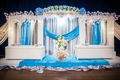 Wedding Altar. Decoration for the couple's seating Stock Images