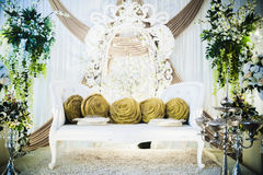 Wedding Altar. Decoration for the couple's seating Royalty Free Stock Photos