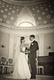 Wedding in ancient house Stock Photo