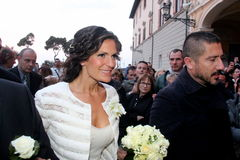Wedding Andrea Bocelli and Veronica Berti Stock Photos