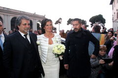 Wedding Andrea Bocelli and Veronica Berti Royalty Free Stock Images