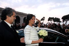 Wedding Andrea Bocelli and Veronica Berti Royalty Free Stock Image