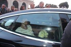 Wedding Andrea Bocelli and Veronica Berti Stock Photos