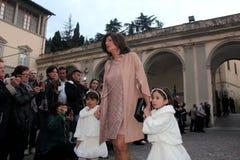 Wedding Andrea Bocelli and Veronica Berti Royalty Free Stock Image