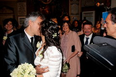 Wedding Andrea Bocelli and Veronica Berti Stock Photography