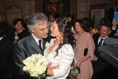 Wedding Andrea Bocelli and Veronica Berti Stock Images