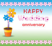 Wedding anniversary. Illustration of wedding anniversary greetings Stock Images