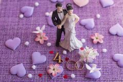 Wedding anniversary, anniversary. Holiday greetings stock photography