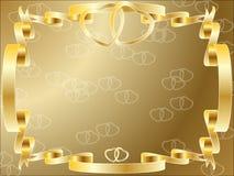 Wedding anniversary border invitation. A wedding anniversary border invitation frame with copyspace, beautiful rings hearts Stock Image