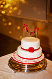 Wedding anniversary cake. Beautiful 40th wedding anniversary cake Stock Images