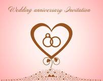 Wedding anniversary Invitation. Stock Photography