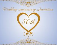 Wedding anniversary Invitation.Vector Royalty Free Stock Photo