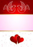 Wedding announcement with doves. Vector Royalty Free Stock Photos