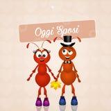 Wedding of ants Royalty Free Stock Photo