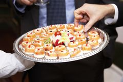 Wedding appetizers Stock Photo