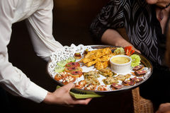 Wedding appetizers being served Stock Photography